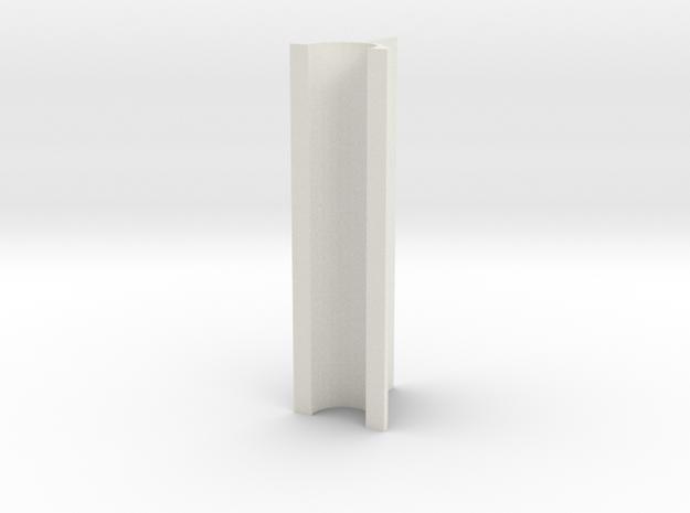 OD Sander V2, .2mm, 50mm Length in White Natural Versatile Plastic