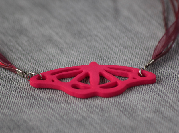 Viceroy Butterfly Pendant in Pink Strong & Flexible Polished