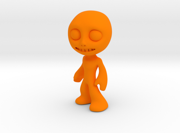 MTI-newfella pose 4 in Orange Processed Versatile Plastic