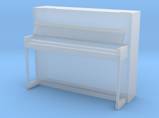 Miniature 1:48 Upright Piano in Smooth Fine Detail Plastic