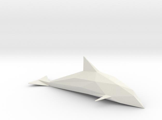 Diamond Cut Dolphin in White Strong & Flexible