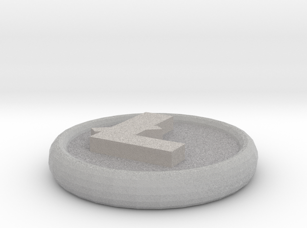 Litecoin in Full Color Sandstone