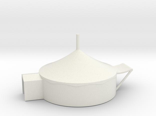 Zelt 8 Meter - 1:220 (Z scale) in White Natural Versatile Plastic