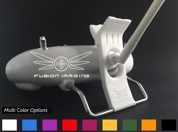 FPV Monitor Mount for DJI Phantom in White Strong & Flexible Polished