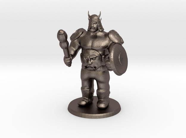Ogre Boss in Polished Bronzed Silver Steel