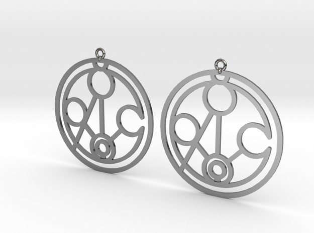 Meghan - Earrings - Series 1 in Fine Detail Polished Silver