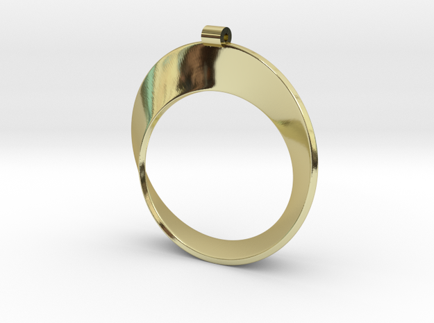 Moebius Strip in 18k Gold Plated Brass