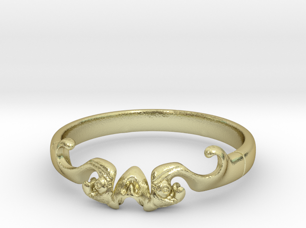 Skull of ring(reboot)(size = USA 5.5)  in 18k Gold Plated Brass