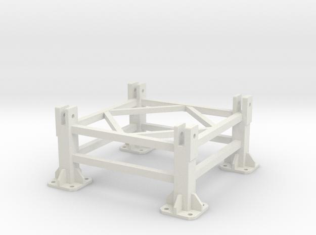 Liebherr 630EC-H 40 Fundaction foot (on concrete) in White Natural Versatile Plastic
