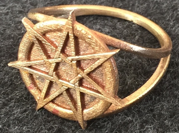 Fairy star ring (choose size)  in Raw Bronze