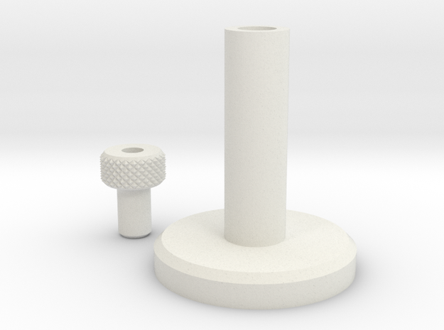 Jetpack Adjustment Knob in White Natural Versatile Plastic