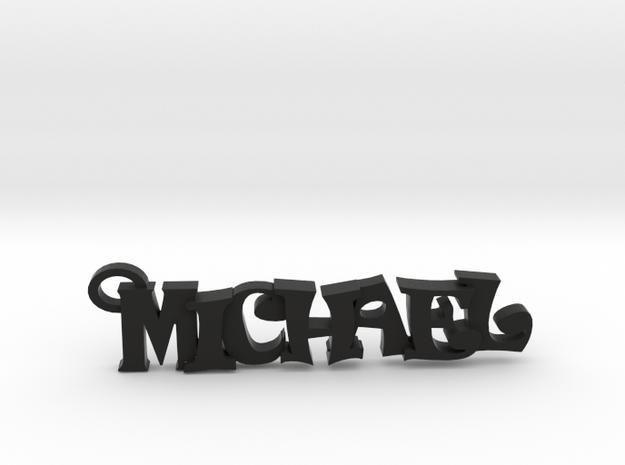 Michael Keychain (Pendant) in Black Natural Versatile Plastic