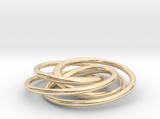 Speed Curve 4-3 Pendant in 14k Gold Plated Brass