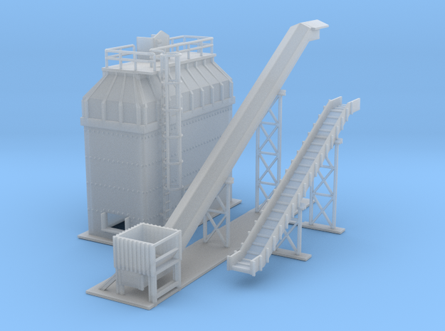 Gravel Plant 2 Z Scale in Smooth Fine Detail Plastic