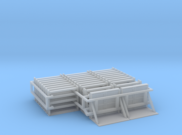 MOW Rail Frames - HOscale in Smooth Fine Detail Plastic