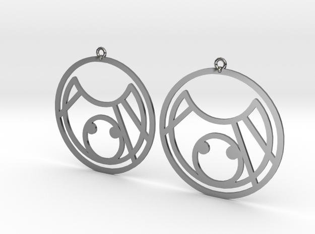 KC - Earrings - Series 1 in Fine Detail Polished Silver