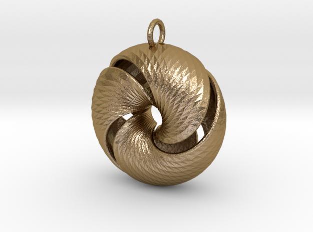 Fantasy-11 in Polished Gold Steel