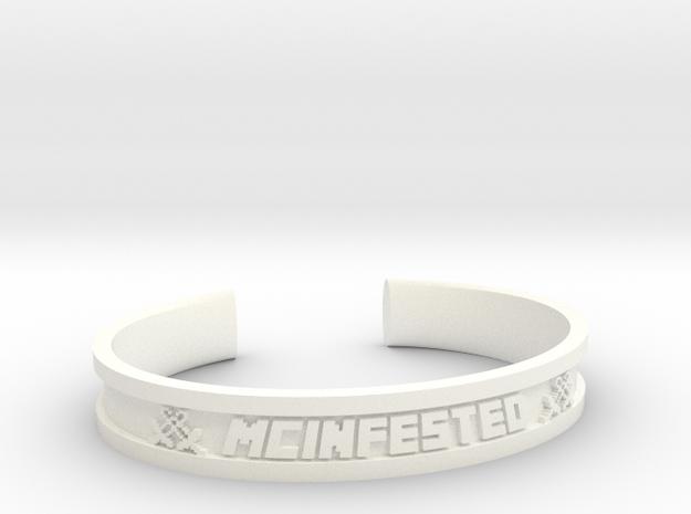 McBracelet (1.8 Inches) Minimum in White Processed Versatile Plastic