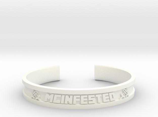 McBracelet (3.0 Inches) in White Processed Versatile Plastic