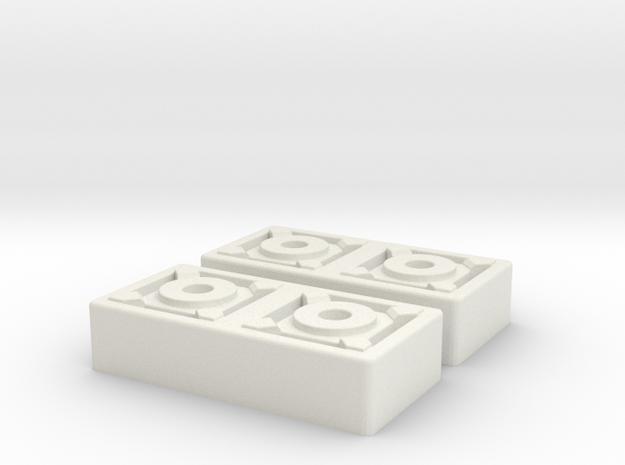 Merr Sonn Block Pair in White Natural Versatile Plastic