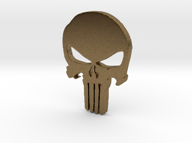 Punisher Pendant 25mm  in Natural Bronze