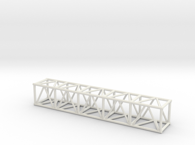 "10' 20.5""sq Box Truss 1:48 in White Natural Versatile Plastic"