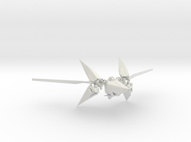 Starfox ArWing in White Natural Versatile Plastic