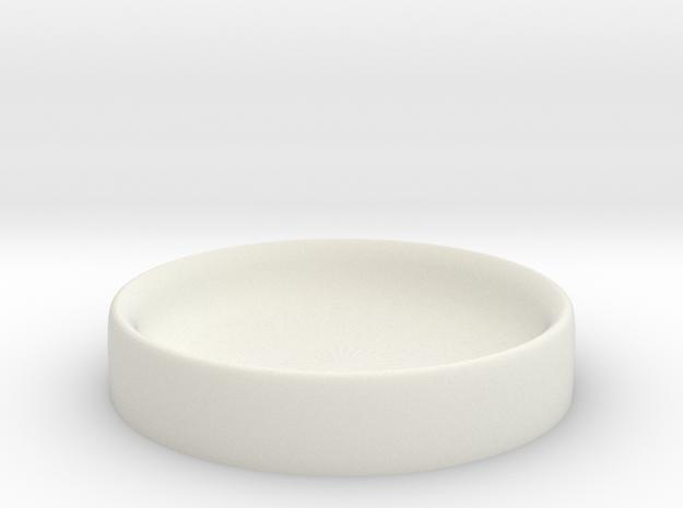 Dice Bowl in White Natural Versatile Plastic