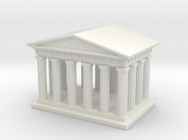Mini Greek Temple in White Natural Versatile Plastic