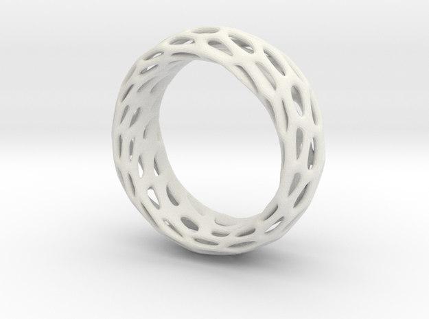 Trous Ring Size 5.5 in White Natural Versatile Plastic