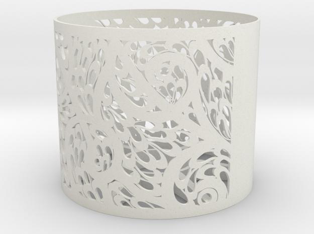Lamp Shade Flora Design in White Natural Versatile Plastic