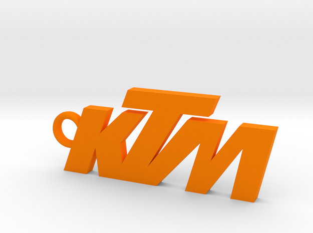 KTM keychain in Orange Processed Versatile Plastic