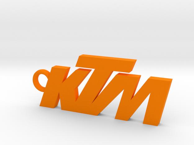 KTM keychain in Orange Processed Versatile Plastic