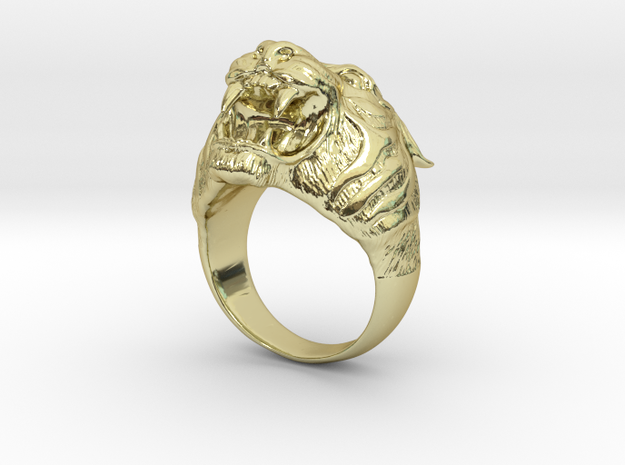 Tiger in 18k Gold Plated Brass