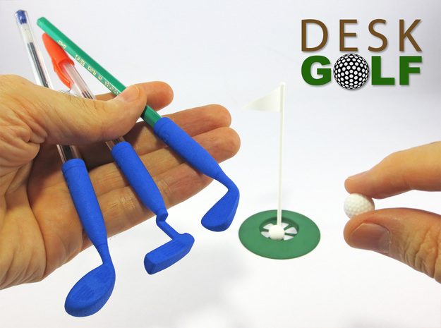 Desk Golf (COMPLETE SET) in White Strong & Flexible
