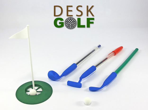 Desk Golf (BASIC SET) in White Natural Versatile Plastic