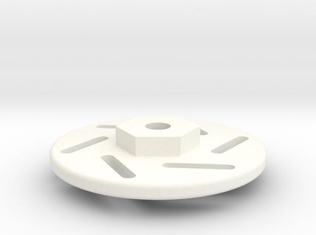 1/18 LaTrax Rally Brake Disc in White Processed Versatile Plastic