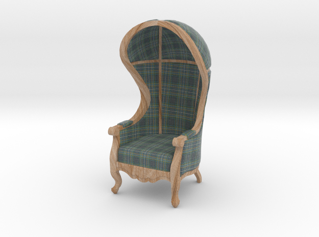 1:24 Half Scale Highland Plaid Carrosse Chair