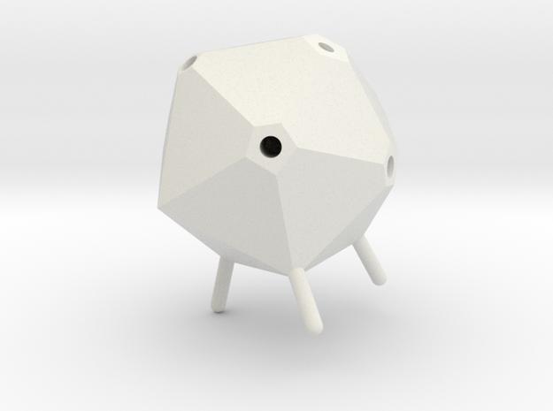 Icosahedron Pen Holder(small) in White Natural Versatile Plastic