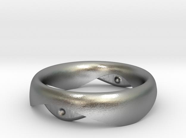 Swing Ring elliptical 16mm inner diameter in Raw Silver