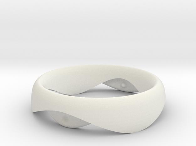 Swing Ring elliptical 16mm inner diameter in White Natural Versatile Plastic