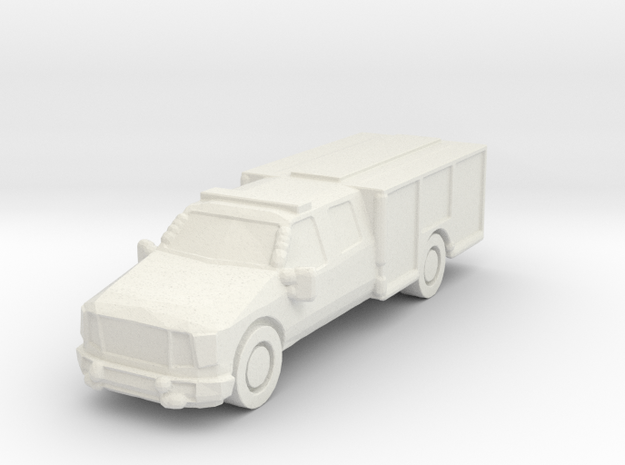Ford Light Rescue/Squad 1:285 scale in White Natural Versatile Plastic: 6mm