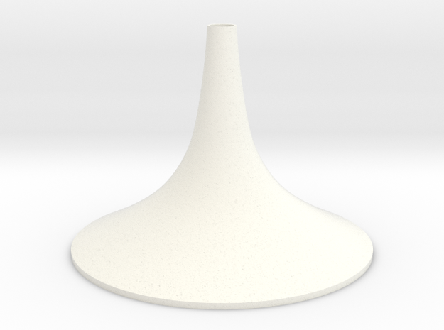 Simple Medium Conical Vase in White Processed Versatile Plastic