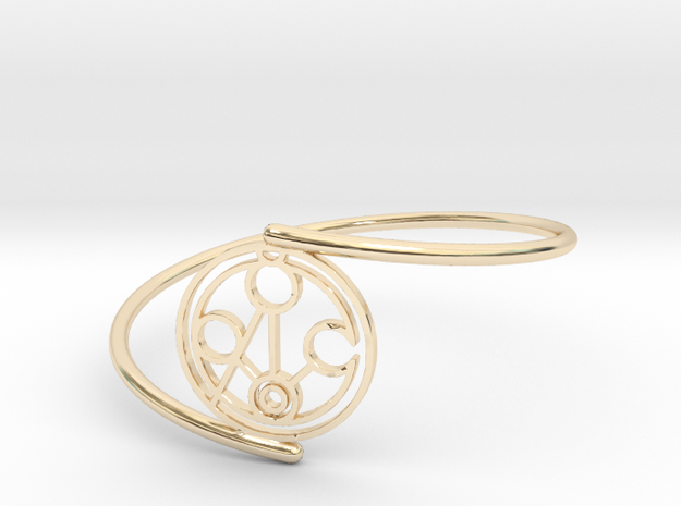 Meghan - Bracelet Thin Spiral in 14k Gold Plated Brass