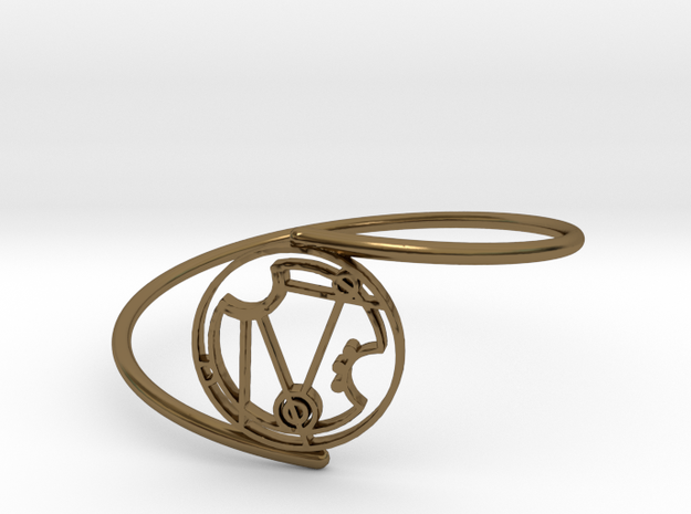 Nerissa - Bracelet Thin Spiral in Polished Bronze
