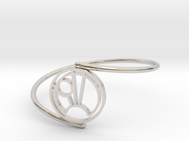 Sam - Bracelet Thin Spiral in Rhodium Plated Brass