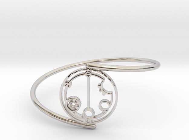Gabrielle - Bracelet Thin Spiral in Rhodium Plated Brass