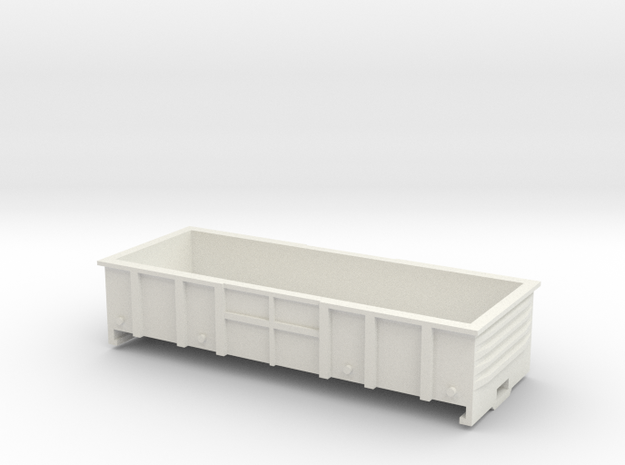 LC Wagon, New Zealand, (OO Scale, 1:76) in White Natural Versatile Plastic