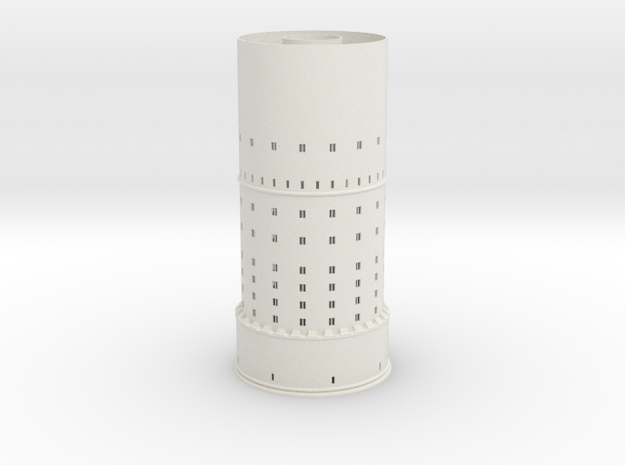 Tower 2x= 350 + 300 + conical roof 63x50    2015-0 in White Strong & Flexible