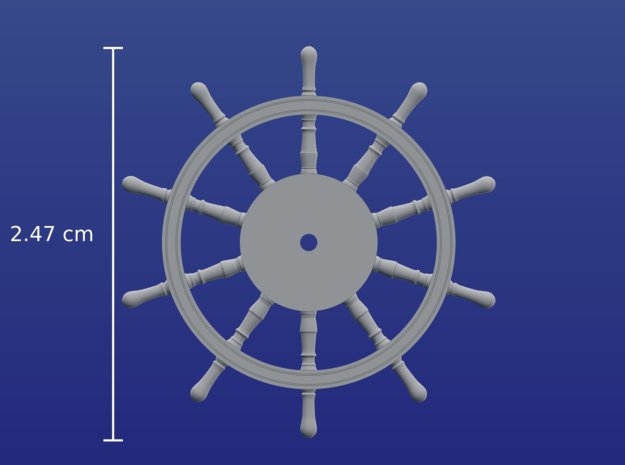 1:72 HMS Victory Ships Wheel in Smooth Fine Detail Plastic